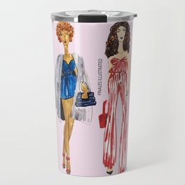 Fashion Drawing Series Pouch, Pinales Illustrated Travel Mug