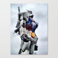 gundam Canvas Prints featuring Gundam Pride by Julie Maxwell