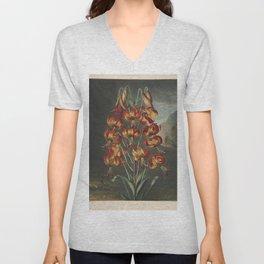 Reinagle, Philip (1749-1833)  - The Temple of Flora 1807 - Superb Lily Unisex V-Neck