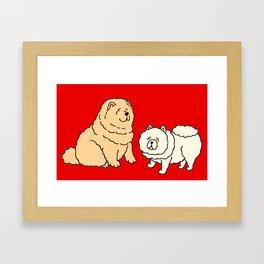 Chow Chow Dog Couple Framed Art Print