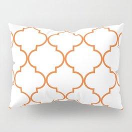 Quatrefoil - orange Pillow Sham