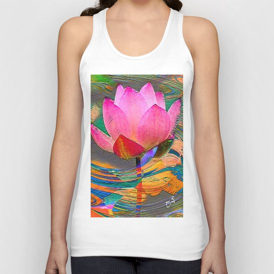 """"""" The ideas are seeds of lotus, they sleep only to grow better """" Unisex Tank Top"""