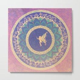 Fairy Garden Amber  Metal Print