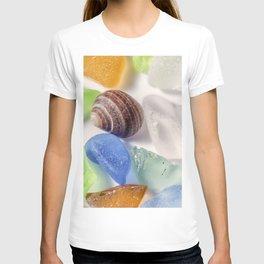 Tiny sea shell and Beach Glass T-shirt