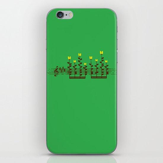 Music notes garden iPhone & iPod Skin