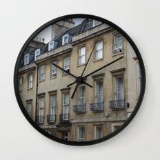 Row of Houses in Bath Wall Clock
