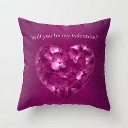 Valentine Day Print Design Throw Pillow