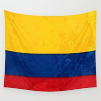 colombia Wall Tapestries featuring Colombia by The Traveller, Wanderlust and Me