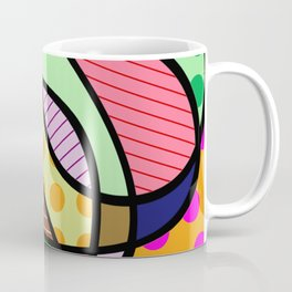 Retro Curves - Big Bold Geometric Patterns Coffee Mug