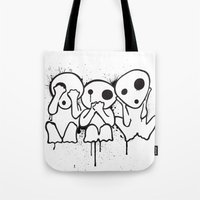 kodama Tote Bags featuring Kodama by Huemanitee