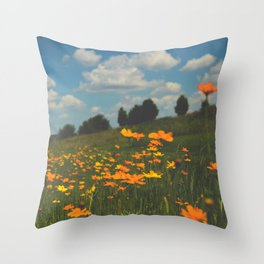 Dreaming in a Summer Field Throw Pillow