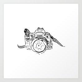luke's camera Art Print