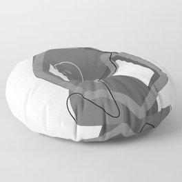 Abstract Nudity Floor Pillow