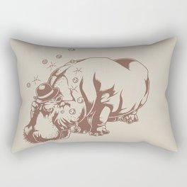 Hippo-Thesis Rectangular Pillow