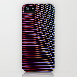 lines and patterns wing light painting iPhone Case