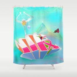 Alphabet Series Shower Curtain