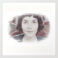 amelie Art Prints featuring Amelie by EclipseLio