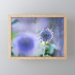 Purple blue Framed Mini Art Print