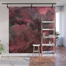 Jack Frost In Coral and Green Wall Mural