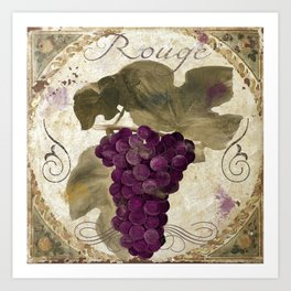 Tuscan Table Rouge Art Print