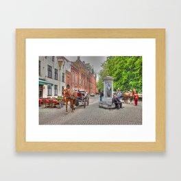 Horse & Cart in Brugge  Framed Art Print