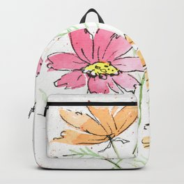 Whimsical Cosmos Bouquet Backpack