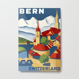 Vintage Bern Switzerland Travel Metal Print