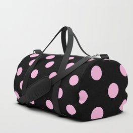 Polka Dots (Pink & Black Pattern) Duffle Bag