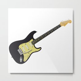 Black Classic Electric Metal Print