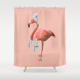 Squeaky Clean Flamingo Shower Curtain