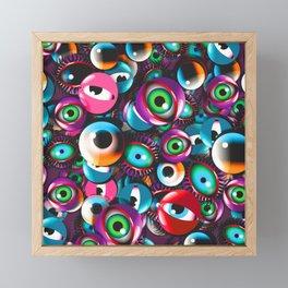 Monster Eyes Party Framed Mini Art Print