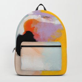 yellow blush abstract Backpack