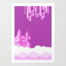 Clouds city Art Print