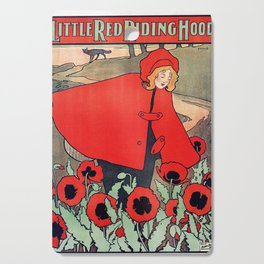 john hassall vintage english poster - Little red riding hood Cutting Board