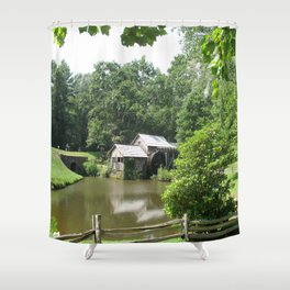 Picturesque Marby Mill Shower Curtain