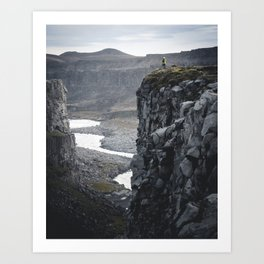 Man on the Edge Art Print