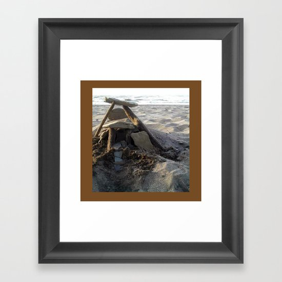 House on the Beach... Framed Art Print