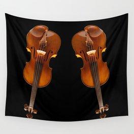 Stradivarius viloin twin Wall Tapestry
