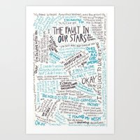 tfios Art Prints featuring TFIOS quotes by digital detours