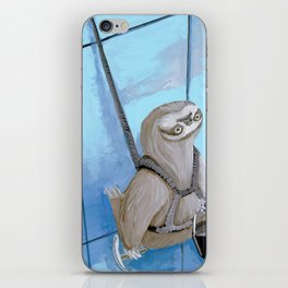 Sloths Are Bad At Things- Xander the Window Washer!  iPhone Skin