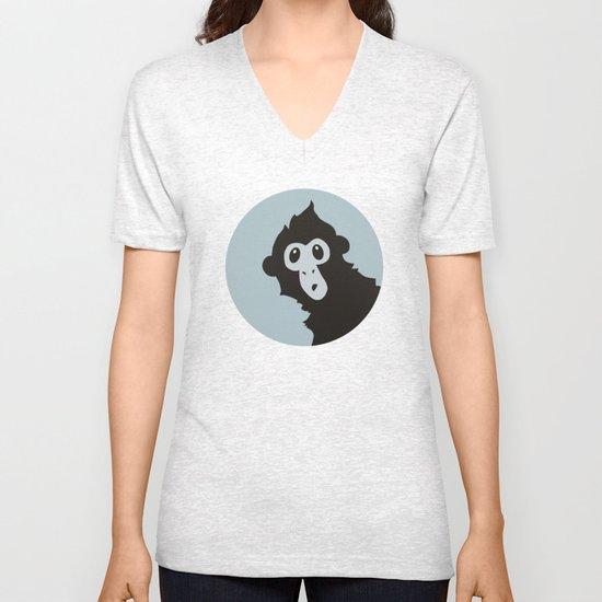 Spider Monkey - Peekaboo! Unisex V-Neck