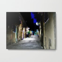 Barcelona Backstreet Edit Metal Print
