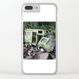 Rusty Toy Trucks Clear iPhone Case