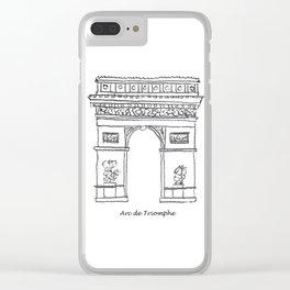Arc de Triomphe Clear iPhone Case