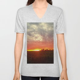 Chasing fire       (Curtain panel #2) Unisex V-Neck