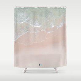 Surf yoga Shower Curtain