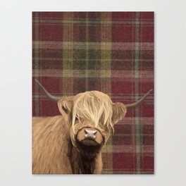 Highland cow print Canvas Print