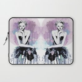 Watercolour Fashion Illustration Young & Beautiful Pink Laptop Sleeve