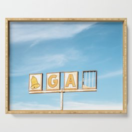 Route 66 Gas Retro Sign Serving Tray