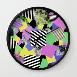 Crazy Squares - Abstract, Geometric Pop Art Wall Clock
